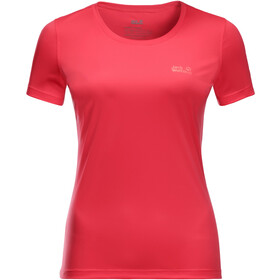 Jack Wolfskin Tech T-shirt Dames, tulip red
